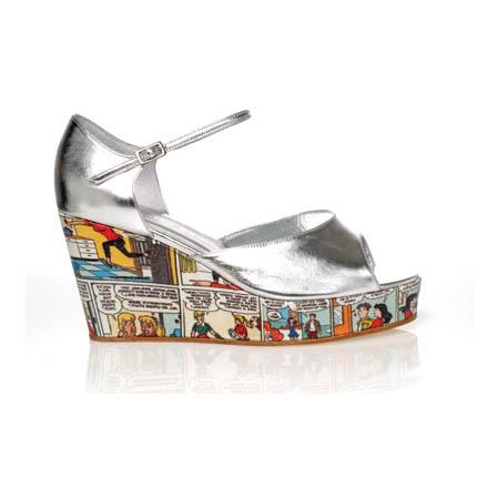 Peep-Toe Cartoon Wedge ($270)