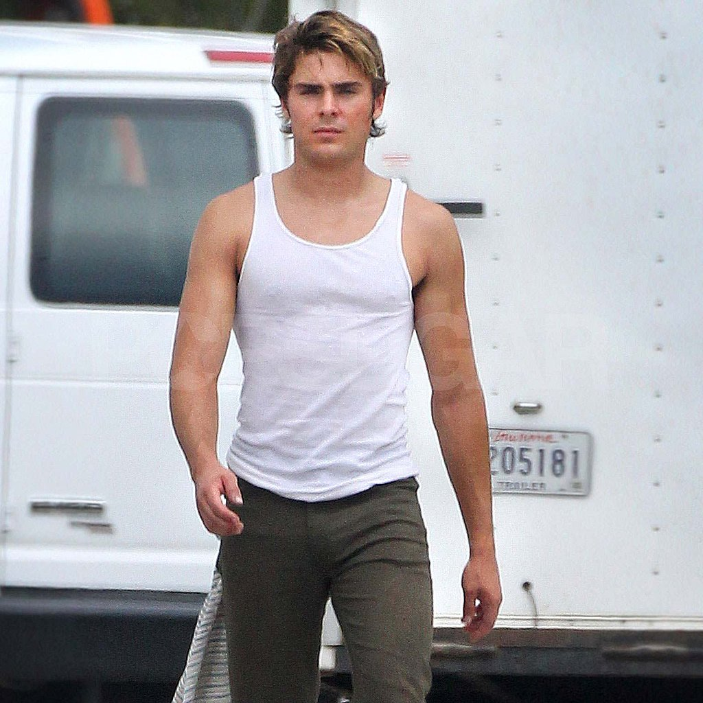 Zac Efron on set for The Paperboy.