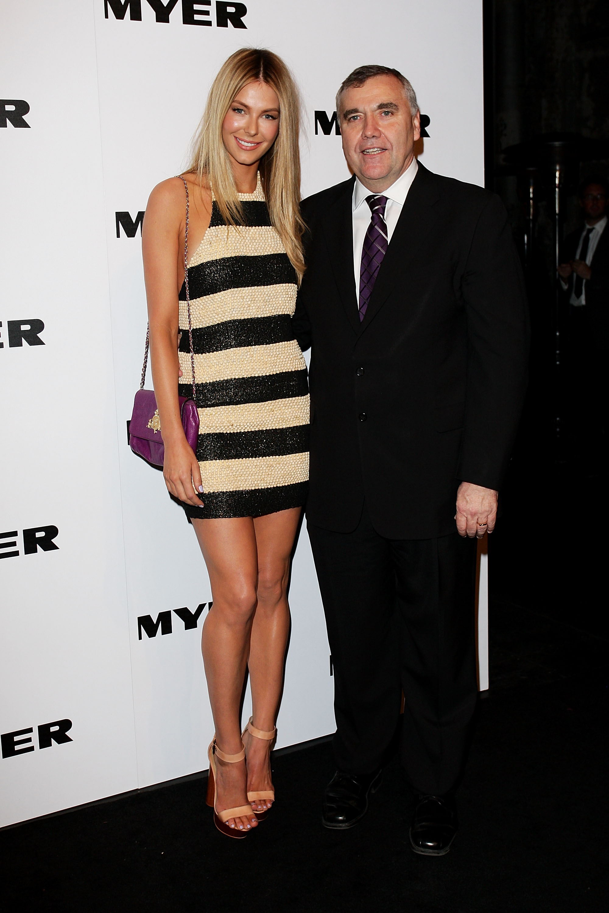 Jennifer Hawkins and Bernie Brookes