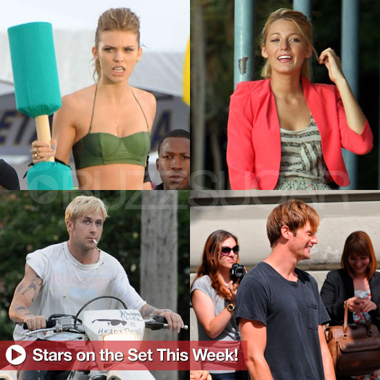 Ryan Gosling, Alexander Skarsgard, Blake Lively, and More Stars on Set This Week!