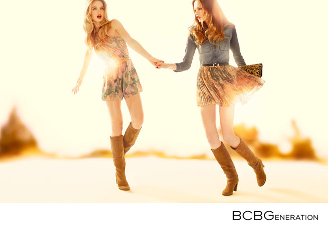 Pair a miniskirt with knee-high boots for a Western chic look.