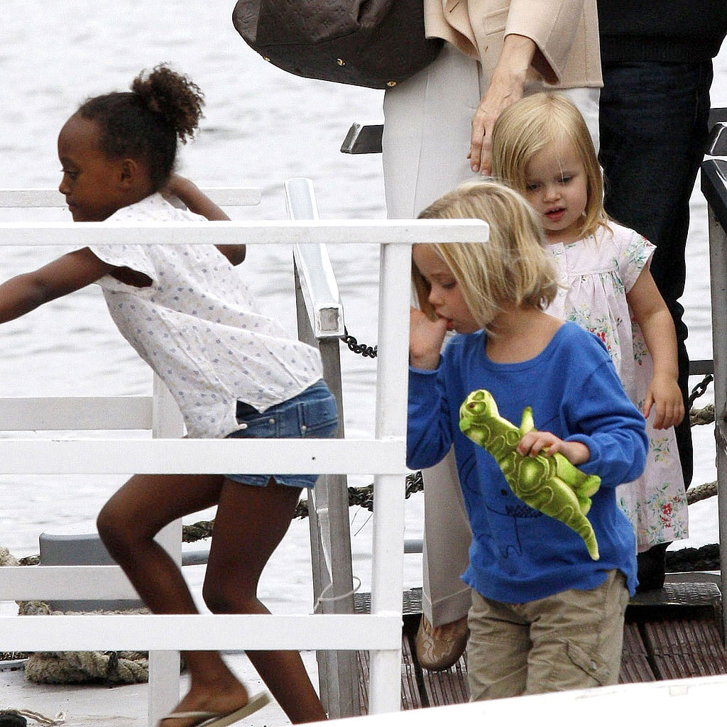 The Jolie-Pitt girls, Zahara, Shiloh, and Vivienne, stuck together.