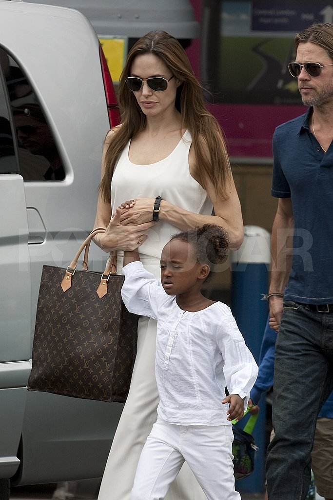 Angelina Jolie with Zahara Jolie-Pitt.