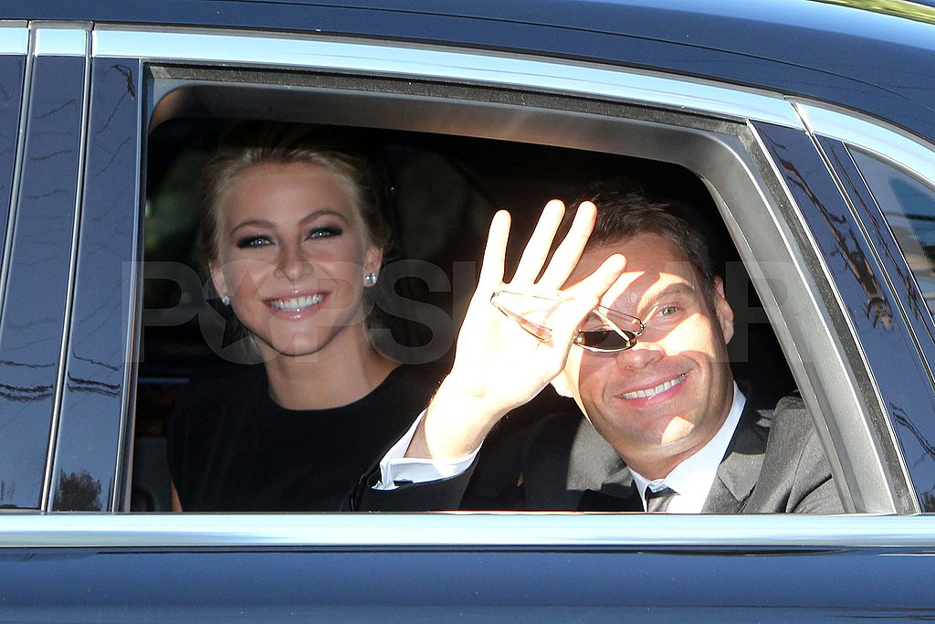 Ryan Seacrest and Julianne Hough at Kim Kardashian's wedding.