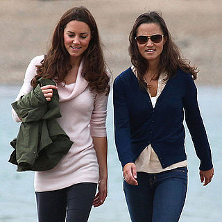 Pictures of Kate Middleton and Pippa on the Beach