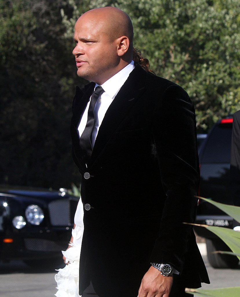 Stephen Belafonte at Kim Kardashian's wedding.