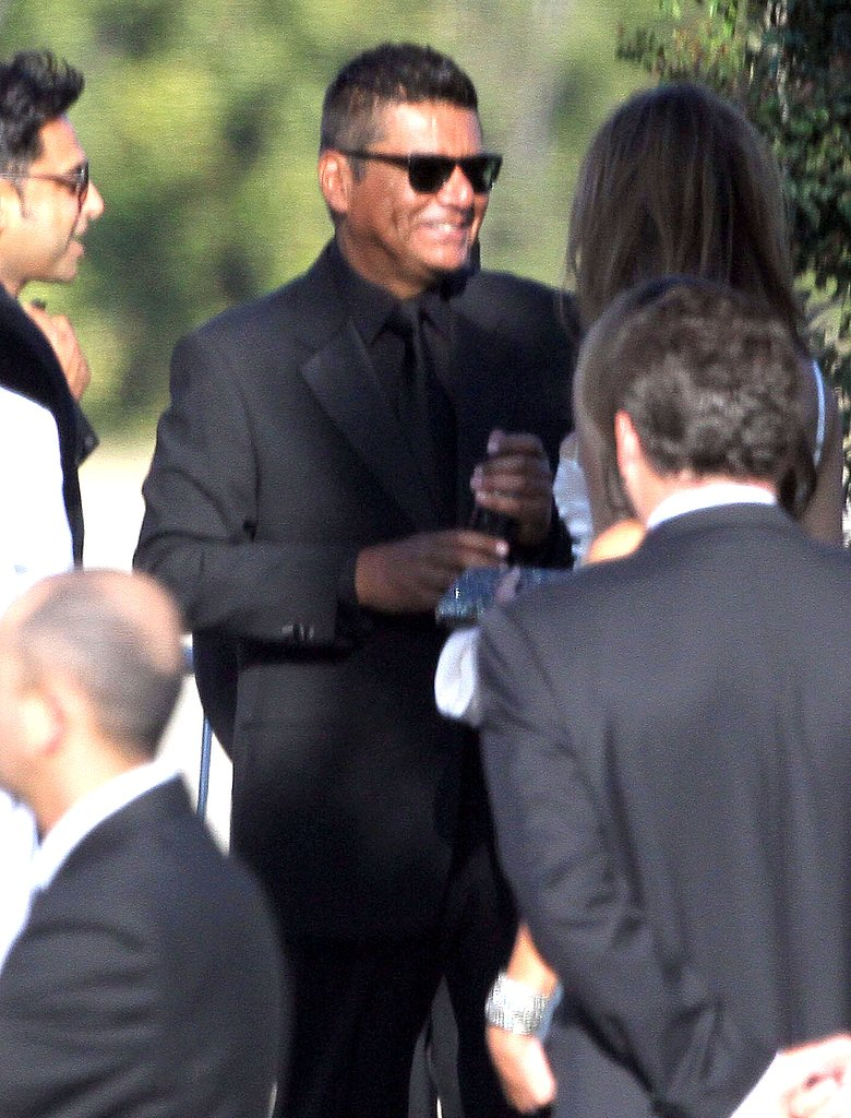 George Lopez at Kim Kardashian's wedding.