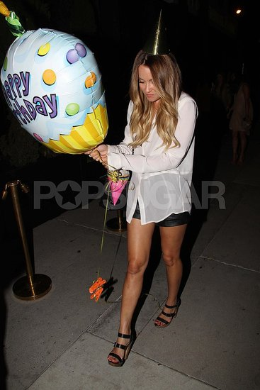 Lauren Conrad parties in LA.
