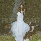 Kendall Jenner in a white Vera Wang gown at Kim Kardashian's wedding.