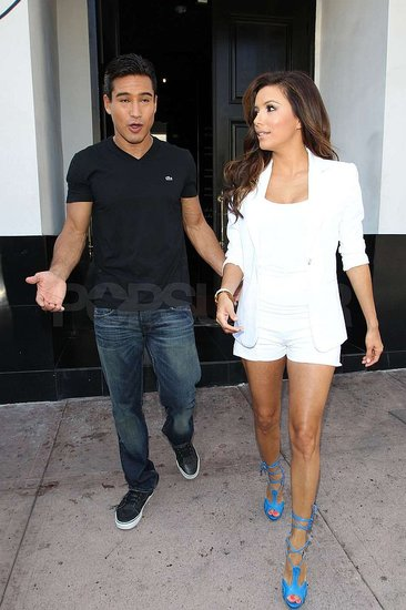 Eva Longoria hung out with Mario Lopez.