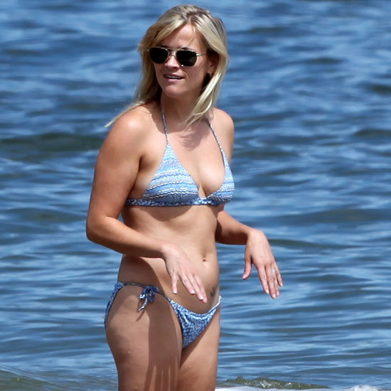 Reese Witherspoon in a two piece bikini.
