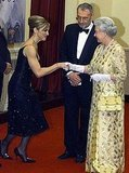 Meeting the queen in 2002.