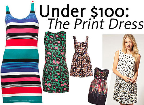 Budget Bonanza! Top Ten Printed Dresses Online for Under $100! Shop It Up at TopShop, ASOS, Billabong and more!