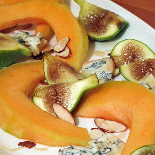 Honeyed Fig and Melon With Blue Cheese and Almonds