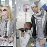 Madonna and Brahim Zaibat in London on Her Birthday