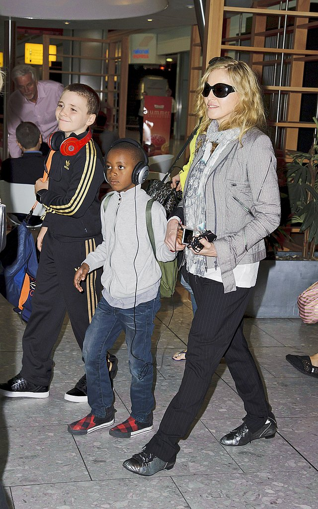 Madonna with sons Rocco and David.