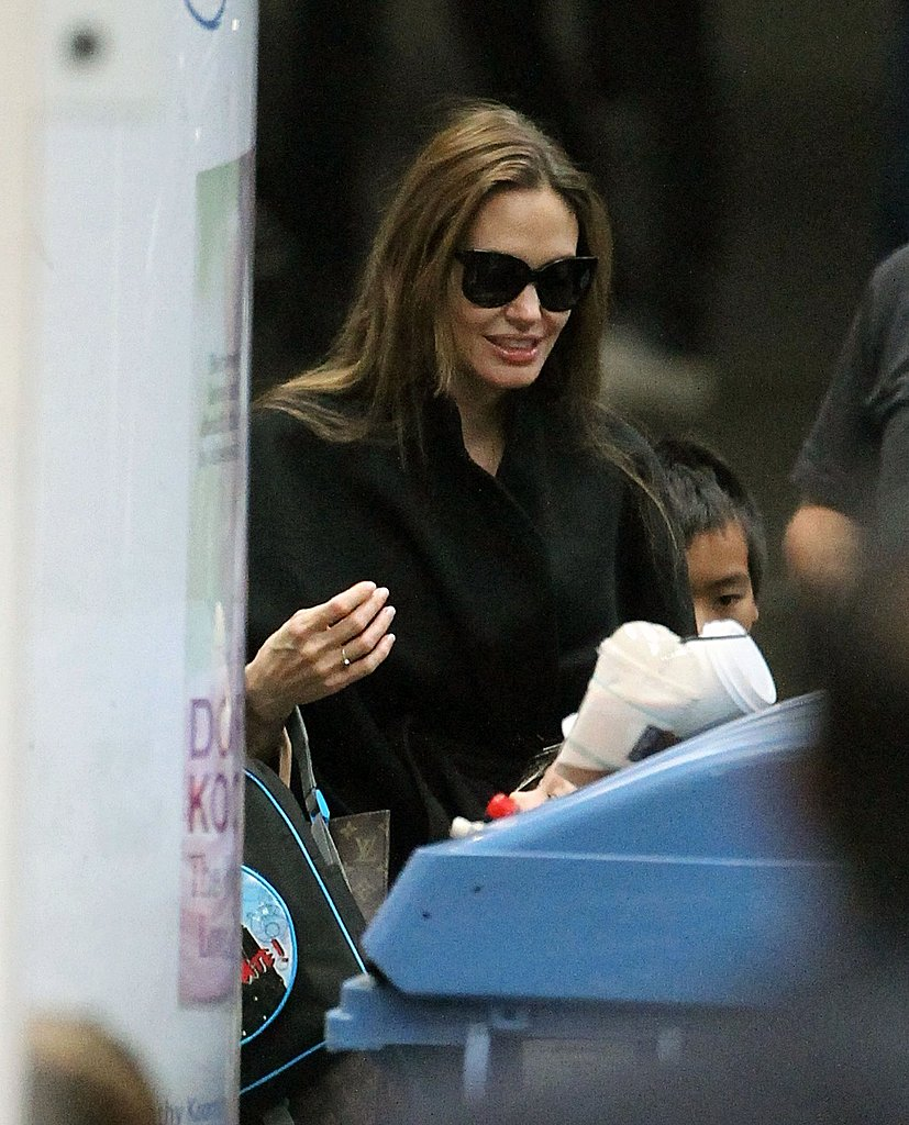 Angelina Jolie with Maddox Jolie-Pitt.