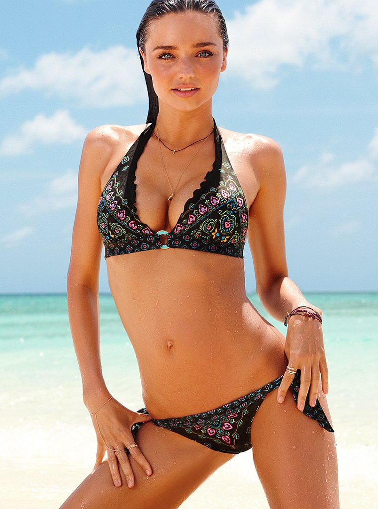 Miranda Kerr wears a bikini for Victoria's Secret's new ads.