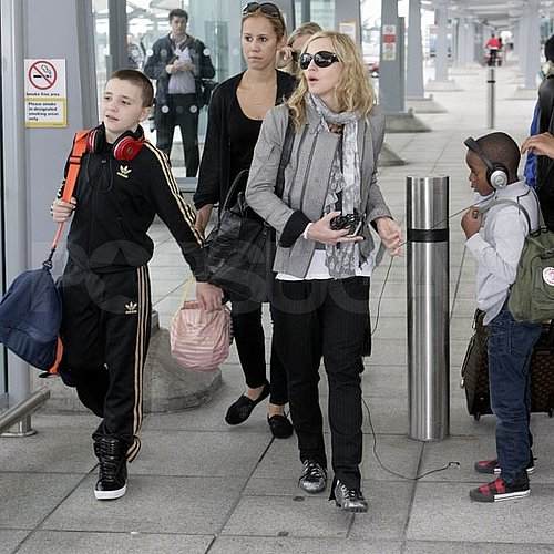 Madonna Pictures Arriving in London on Her Birthday With Brahim Zaibat
