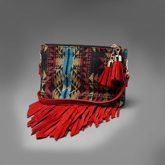 Jeffrey Campbell Lopes-2 Fringe Bag, $88
