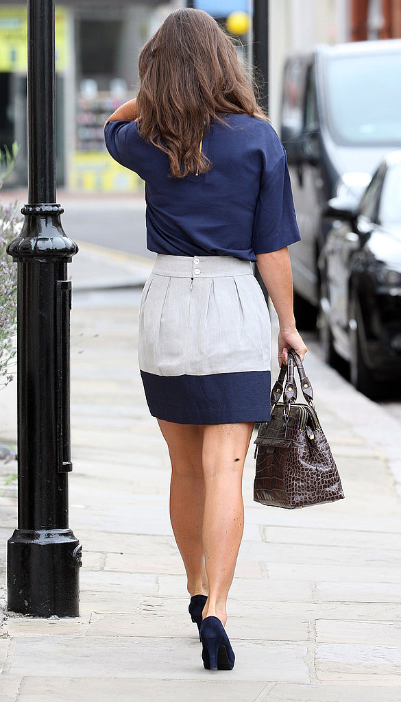 Pippa Middleton in high heels.