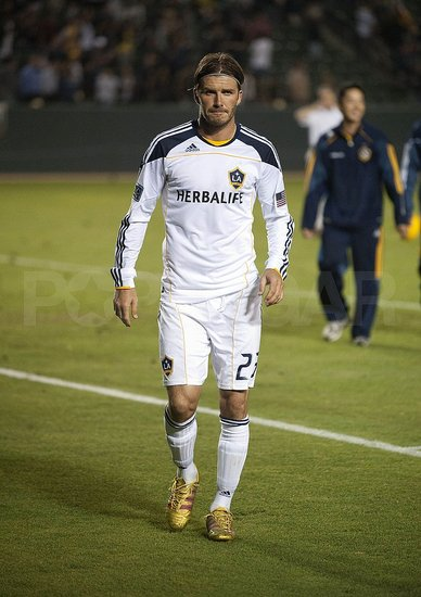 David Beckham was white hot during the match.