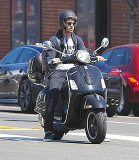 Pictures of Andrew Garfield Riding a Vespa Scooter