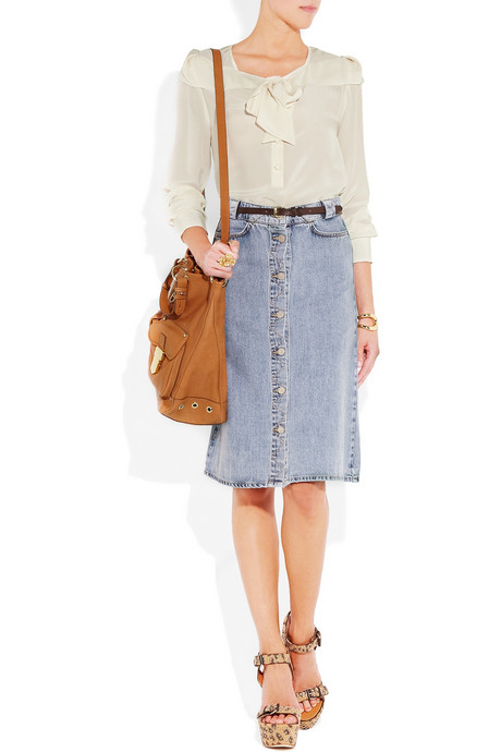 This button-embellished light-wash version is perfect to wear during the transitional months. MiH Jeans Melbourne Denim Skirt ($185)