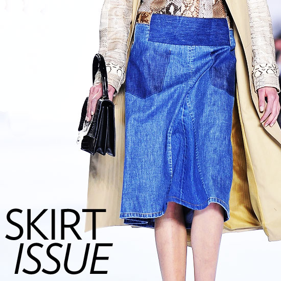 10 Fantastic Denim Skirts For Fall