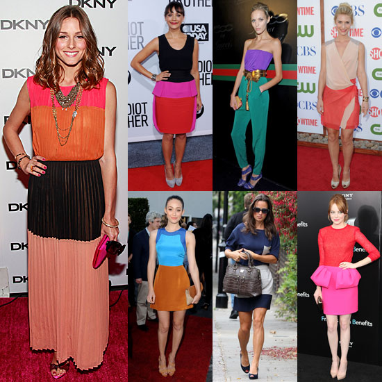 7 Days, 7 Ways: How Celebs Execute Colorblocked Cool