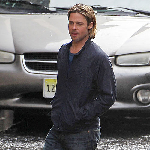 Brad Pitt Pictures on the Glasgow Set of World War Z