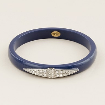 Lulu Frost for J.Crew Thin Deco Bangle in Navy ($45)