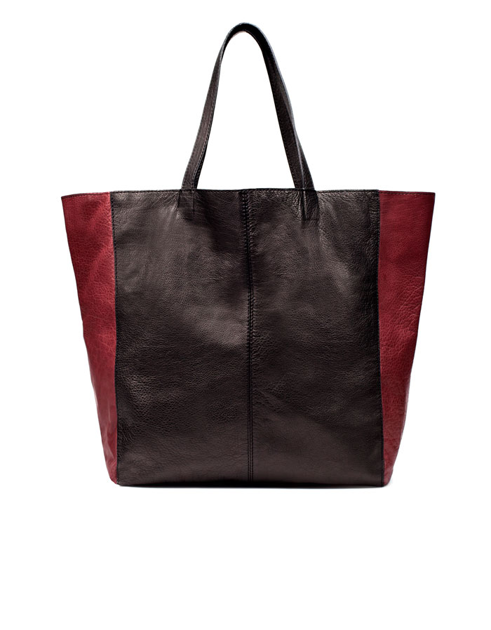 This colorblock tote is perfect for lighter loads. Zara Colorblock Tote ($129)