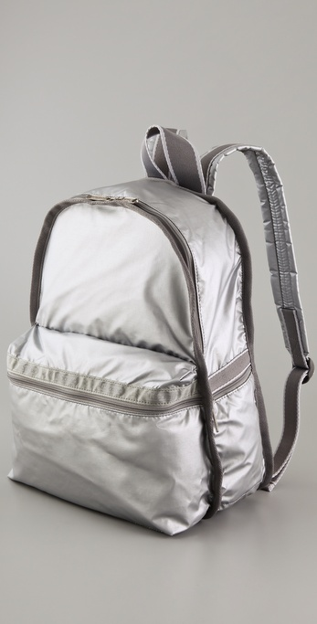 A simple style dipped in a bright silver hue. Lesportsac Laser Shiny Basic Backpack ($98)