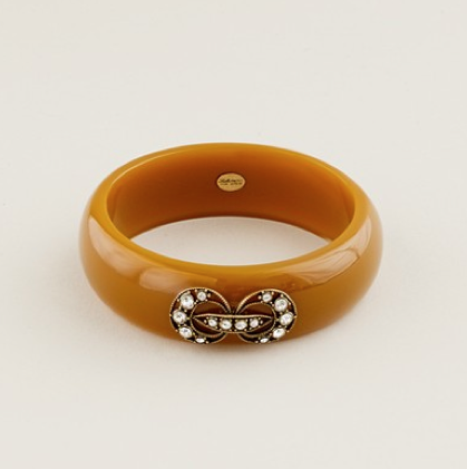Lulu Frost for J.Crew Figure Eight Bangle in Apple Juice ($58)