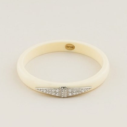 Lulu Frost for J.Crew Thin Deco Bangle in Ivory ($45)