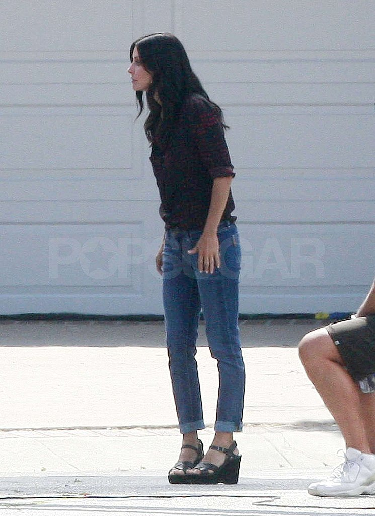 Courteney Cox got to work.
