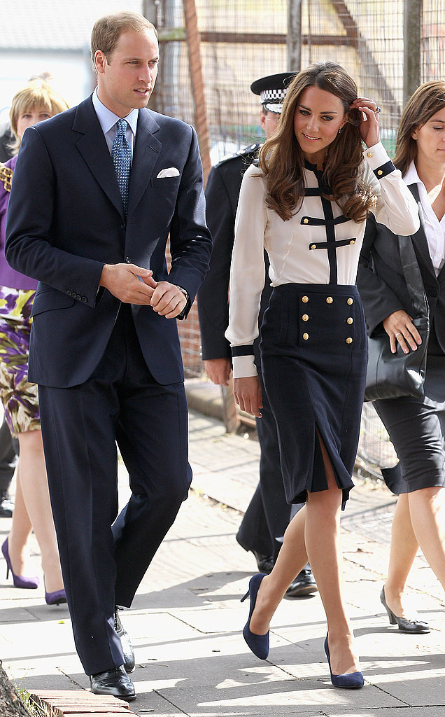 Prince William and Kate Middleton in Birmingham.
