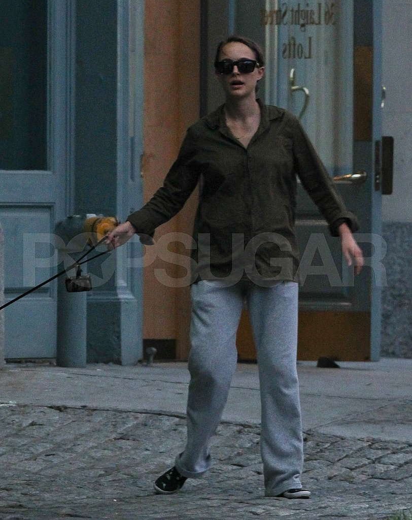 New mom Natalie Portman with dog Whiz.