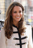Kate Middleton, Duchess of Cambridge, smiles.