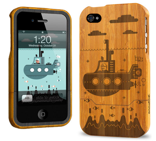Grove: Carved Bamboo iPhone 4 Cases
