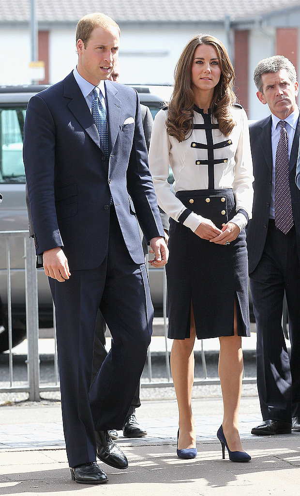 Prince William and Kate Middleton arrive at the Summerfield Community Center.