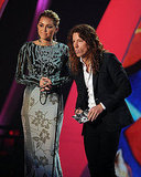 Miley Cyrus and Shaun White present at the 2011 MTV VMAs.