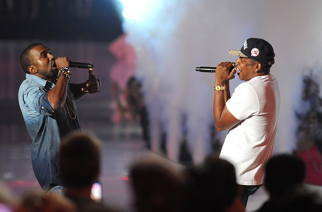 Kanye West and Jay-Z at the 2011 MTV VMAs.