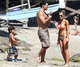 LeAnn and Eddie played on the sand with his sons.