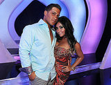 Snooki and her juicy boyfriend keep close.