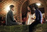Matt Davis as Alaric, Nina Dobrev as Elena, and Ian Somerhalder as Damon on The Vampire Diaries.  Photo courtesy of The CW