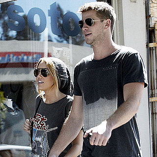 Pictures of Liam Hemsworth and Miley Cyrus Shopping in LA