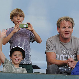Pictures of David Beckham's Kids at His Galaxy Game