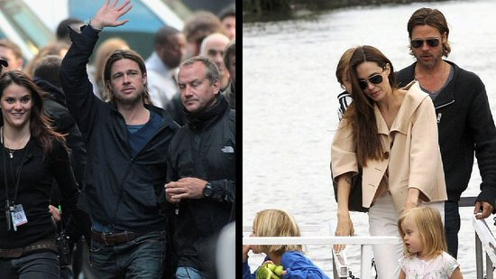 Video: Details On Brad Pitt and Angelina Jolie's Stay in Scotland For World War Z!